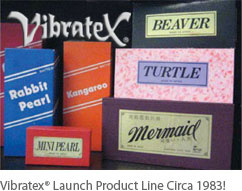 Vibratex Launch Product Line Circa 1983